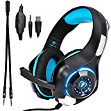 Gaming Kopfhörer mit mikrofon Stereo Sound 7.1, Noise Cancelling Bequem Gaming Headset für  PC, PS4, Xbox one, Laptop, Sport Performance Ohrpolster, Lautstärkeregelung