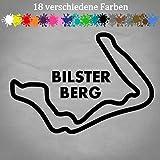 Generic Bilster Berg Aufkleber 17x12cm Layout Umriss Rennstrecke Pömbsen Silhouette Race in 18 Farben