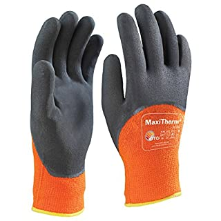 ATG MaxiTherm 30-202 Thermal Grip Glove 3/4 Coated 1.2.4.1 - Size 9, Orange