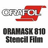 (5,15€/m²) Airbrush Schablonenfolie Maskierfolie Folie ORAMASK 810 5m x Breite nach Wahl (31cm x 500cm)