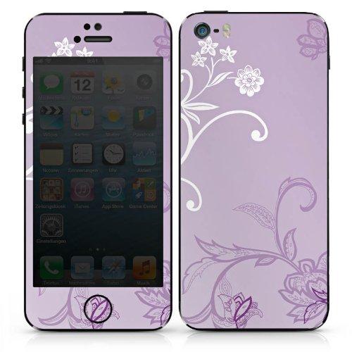Apple iPhone 5 Case Skin Sticker aus Vinyl-Folie Aufkleber Ranken Blumen Muster DesignSkins® glänzend