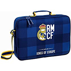 Real Madrid – Bolsa escolar maletín azul Kings Real Madrid