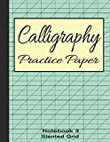 Calligraphy Practice Paper Notebook 3: Slanted Graph Grid for Script Handwriting (Calligraphy Writing Stationery, Band 3)