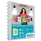 Elba Polyvision Variozip Protège Document A4 en polypropylène avec 20 Pochettes amovibles Incolore