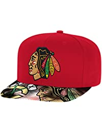 Chicago Blackhawks Reebok Face Off Fashion Color Flat Brim Snapback Hat