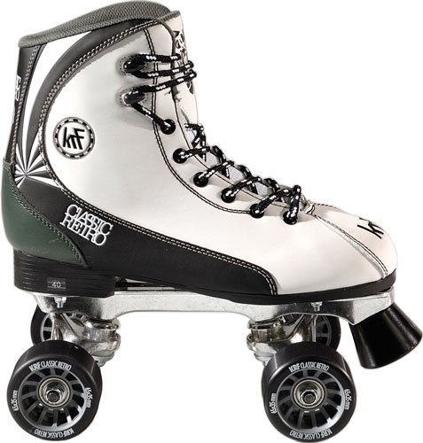 KRF Retro Formula Maxi - Patines quad, color blanco