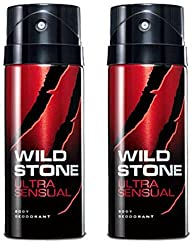 Wild Stone Ultra Sensual Deodorant For Men 150 ML (Pack of 2)