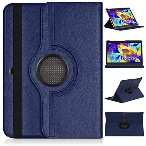 re 360 Tablet Tasche für Samsung Galaxy Tab S 10.5 T800 T805 Blau ()