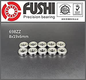 10PCS 698ZZ Bearing ABEC-5 8x19x6 mm Miniature 698Z Ball Bearings 698 ZZ EMQ