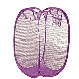 SUCES Faltbare Pop Up Wäsche Wäschekorb Tasche Hamper Mesh Storage Wäschekorb Wäschesammler Mesh Design Faltbar Wäschesack Wäschebox Wäschehalter Zum Waschen von Kleidung (A)