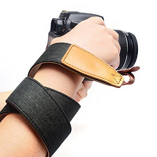 Weich Denim Kamera riemen Männer Frauen Sicherheit Schlinge Breit Schulter Hals Gürtel Jahrgang für alle DSLR Kamera Draussen von Jeracol Schwarz - 3