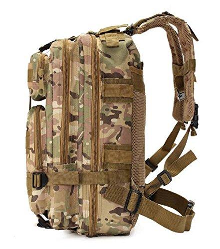 tacvasen 35L MOLLE Military Rucksack Wasserdicht Oxford Rucksack Tactical Outdoor Sport Tasche für Wandern, Trekking, Camping, Klettern Reise 3P Camouflage Attack Assault Day Pack CP