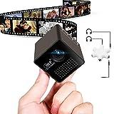 1.8' Cube DLP Mini Projecteur ULBRE® LED Projecteur de Poche HD Portable avec Diviseur Audio pour le Partage de Films Photos et Vidéos