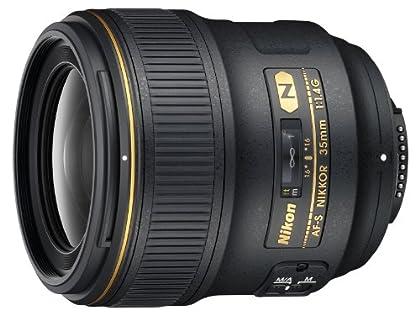Nikon AF-S 35 mm F1.4G - Objetivo para montura F (distancia focal 35 mm, apertura f/1.4) negro