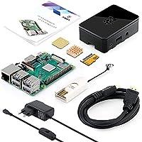 ABOX Raspberry Pi 3 Modell B Plus (B +) Ultimatives Starterkit mit 32GB Class 10 Samsung Evo + Micro SD Karte, 2,5A Ein/aus-Schaltnetzteil und Premium Black Case