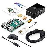 ABOX Raspberry Pi 3 B+ Starter Media Center Kit con 32 GB Samsung EVO + Micro SD Clase 10, Adaptador de Corriente con Interruptor, 2 Radiadores, Cable HDMI, Caja de Calidad, Lector de Tarjetas
