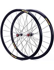 ZNND 700C Ruedas para Bicicleta, Double Wall V-Brake Carretera Ultra-Ligeras 24