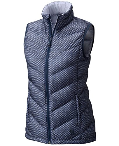 Mountain Hardwear Damen Ratio Daunenweste, Damen, Zinc Print, Medium Mountain Hardwear Womens Vest