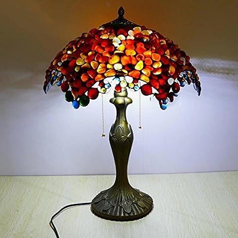Lampes de table de style européen/?Rétro salon chambre chevet décorative lampe de table?/ ?feu de mariage jade agate?-E