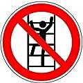 Aufkleber Besteigen für Unbefugte verboten D-P022 100mm
