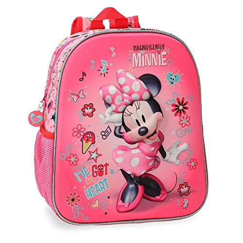Disney stickers zainetto per bambini, 33 cm, 9.8 liters, rosa