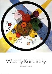 Posters: Wassily Kandinsky Poster Reproduction - Cercle Dans Un Cercle, 1923 (100 x 70 cm)
