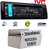 Mercedes Vaneo W414 - Autoradio Radio JVC KD-R491 | CD | MP3 | USB | Android | - Einbauzubehör - Einbauset