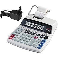 Genie D69 Plus Calculatrice avec imprimante Affichage 12 chiffes Impression rouge/noir Gris