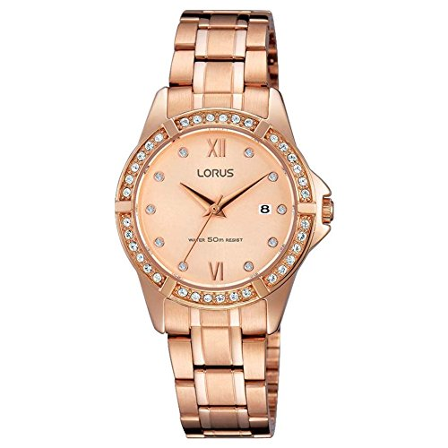 Lorus Womens Analogue Classic Quartz Watch with Stainless Steel Strap RJ220BX9