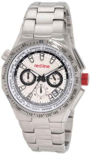 Red Line RL-50014-22S – Watch Men – Quartz – Chronograph – Speed Meter Silver Stainless Steel Bracelet