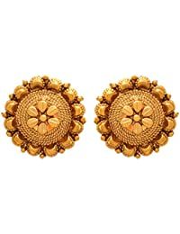 615136f27 JFL - Jewellery for Less Ethnic Gold Plated Stud Earrings for Women (1 g,