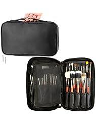 Trousse de voyage professionnelle pour rangement de pinceaux à maquillage Housse maquilleur professionnel avec élastique de maintien trousse à maquillage pour les voyages et à la maison