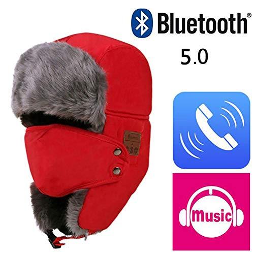 martialart Schneemütze, warm, Bluetooth, Lei Feng, Wintermütze, aus Baumwolle Rouge-b