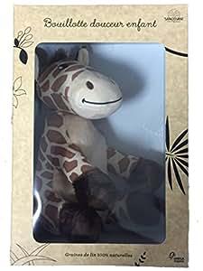 Sanodiane - Bouillotte Peluche à Graine De Lin 100% Naturelles - Gigi la Girafe