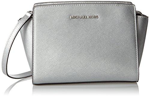 michael-kors-donna-md-messenger-borsa-a-spalla-argento-size
