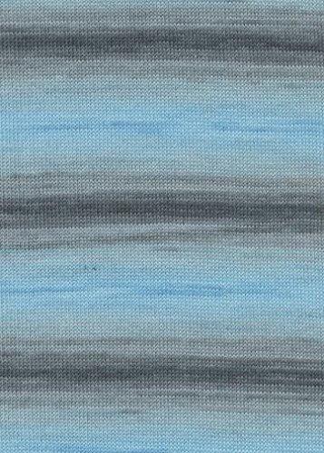 LANG YARNS Merino 400 Lace Color - Farbe: Hellblau/Grau (0021) - 50 g / ca. 400 m Wolle -