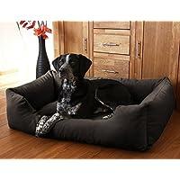 Knuffelwuff 12627 Hundebett Dreamline - Größe XXL 120 x 85cm, schwarz