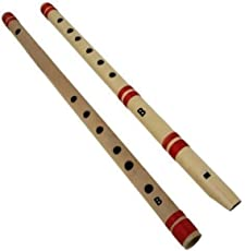 Blue Panther Set Of Fipple & Transverse Bamboo Flute For Beginners, Both B Scale Flutes