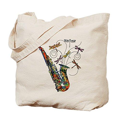 CafePress–Wild Saxophon–Leinwand Natur Tasche, Reinigungstuch Einkaufstasche