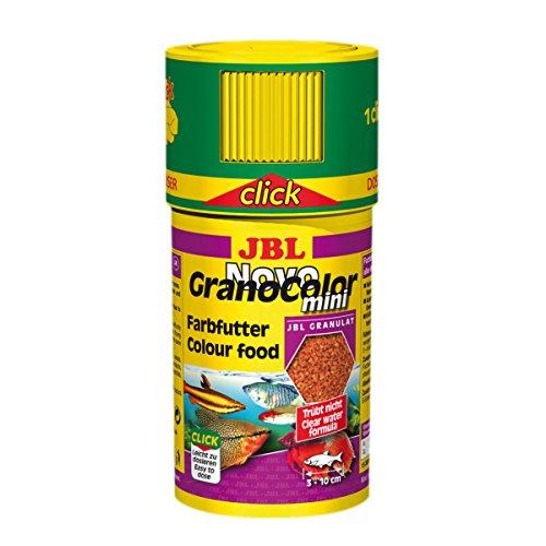 JBL NovoGranoColor mini 100ml CLICK - Aliment de base en granulés pour petits poissons d'aquarium très colorés