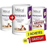 MILICAL - 2 +1 GRATUITE - Pur protéine vanille MILICAL