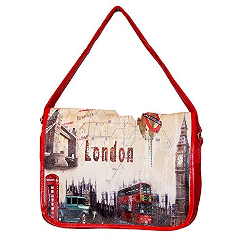 Sac Bandoulière LONDON Rouge