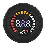 Qiilu DC 24V Universal Digital LED Panel Voltmeter Spannungsanzeige Volt Meter für Auto Motorrad ATV