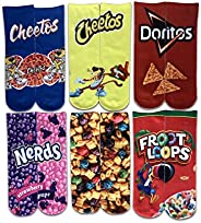 Sexybody Women's Funny Novelty 3D Cartoon Food Colorful Printing Short S