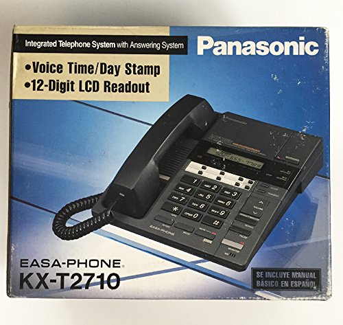 Panasonic KX-T2710 EASA-PHONE Integrated Telephone System with Answering System Voice Time/Day Stamp 12-Digit LCD Readout Easa Phone