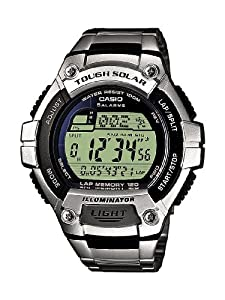 CASIO Collection Men - Reloj digital de caballero de cuarzo con correa de acero inoxidable plateada (alarma, cronómetro, luz) - sumergible a 100 metros de Casio