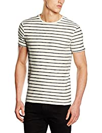 SELECTED HOMME Herren T-Shirt Shhkris Stripe Ss O-Neck Tee Noos