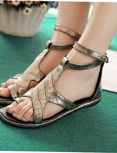 UWSZZ IL Sandali eleganti comfort Scarpe Donna-Sandali-Tempo libero / Casual / Scarpe comode / Formale-Decolleté con cinturino-Piatto-Materiali personalizzati-Nero / Black