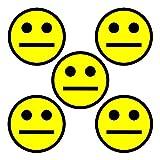 5 Gelbe Smiley Magnete Durchmesser 5 cm für Magnettafeln, Kühlschränke, Plantafeln und Whiteboards. Emoji Magnet Neutral (Gelb, 5 cm)