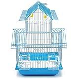BPS Cage à Oiseaux en métal avec mangeoire Biberon Benne à trémie 2 Tailles M/L Couleur Expédition aléatoire (M: 30 x 23 x 47 cm) BPS-1207